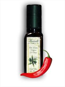 Olio extra vergine di oliva aromatizzato al peperoncino (bottiglia da 100 ml)