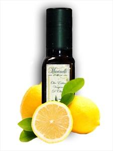 Olio extra vergine d'oliva aromatizzato al limone (bottiglia da 100 ml)